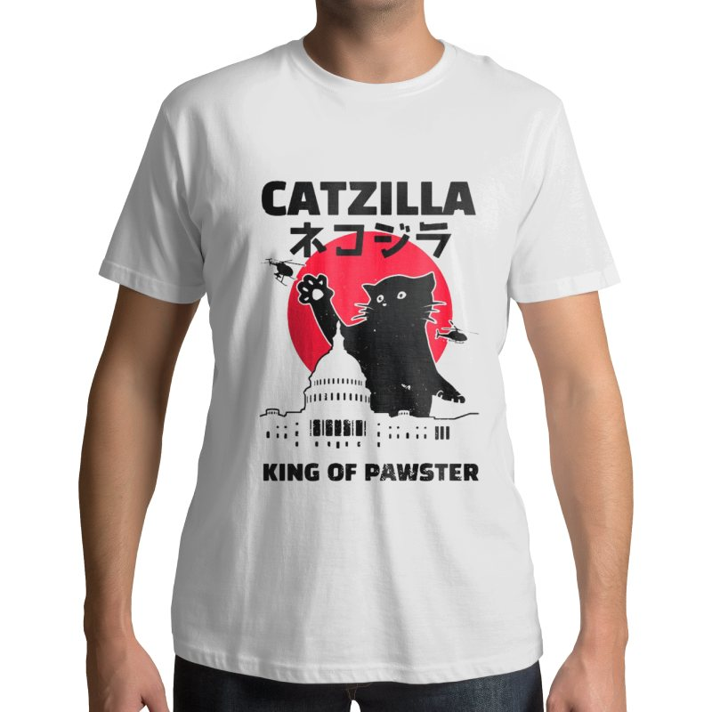 T-shirt Catzilla King of Pawsters