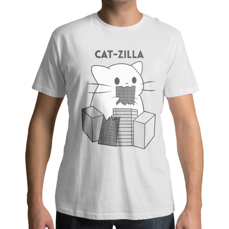 T-Shirt Chat Catzilla Mignon - Vraiment-chat