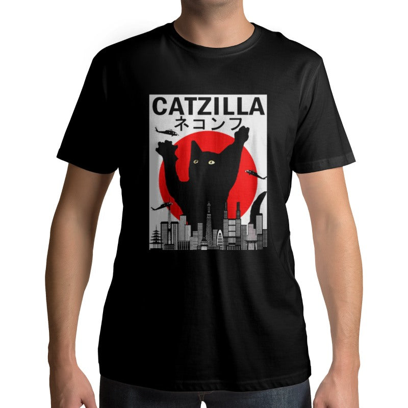 T-Shirt Chat Catzilla - Vraiment-chat