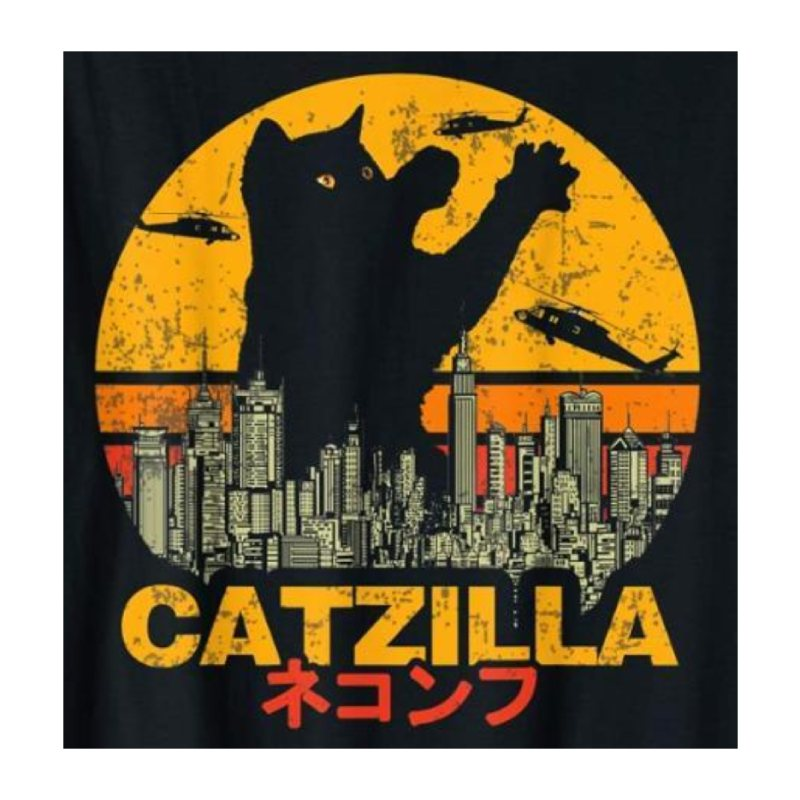Tee Shirt Chat au Film Catzilla