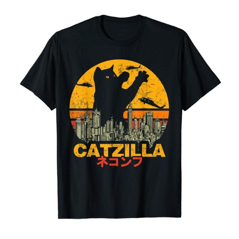 Tee Shirt Chat au Film Catzilla - Vraiment-chat