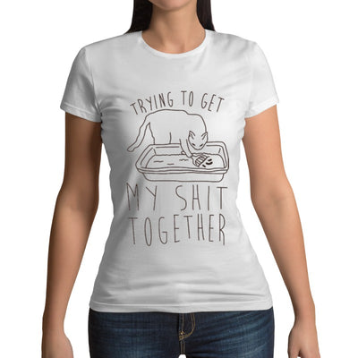 T-shirt chat humour SHIT TOGETHER | vraiment-chat