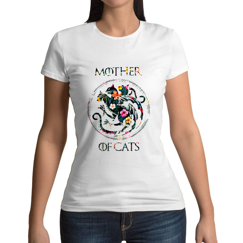 T-Shirt Maman Chats <br/>Mother of Cats