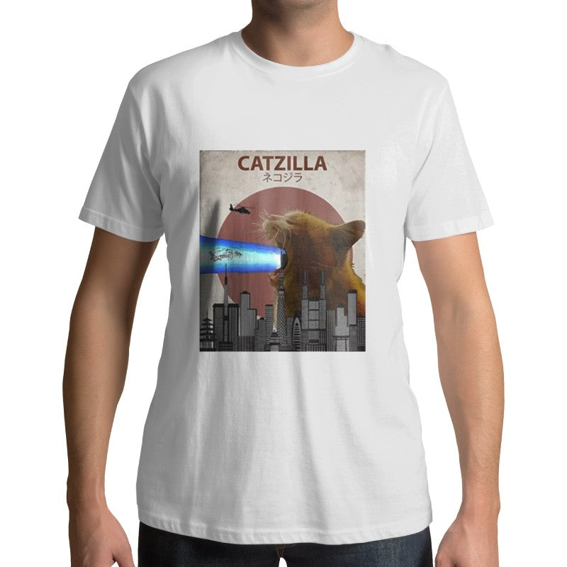 T-Shirt Chat Parodie Catzilla - Vraiment-chat