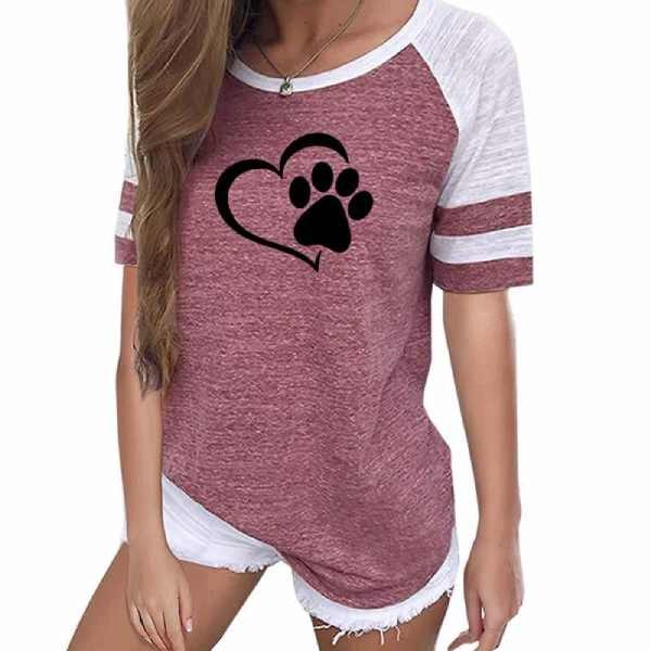 T-shirt Chat La Patte sur le Coeur
