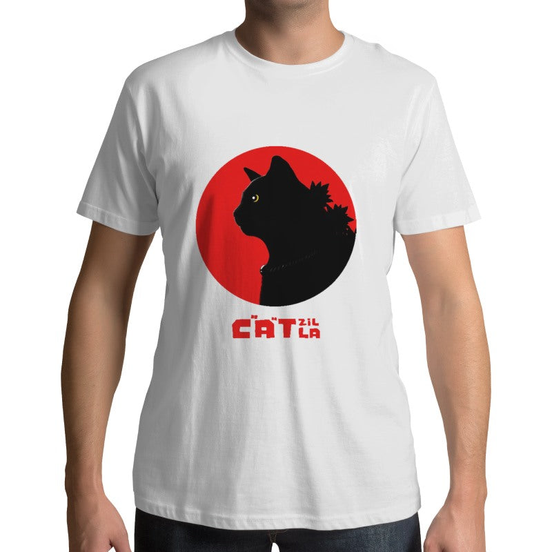 T-Shirt Monstre Catzilla - Vraiment-chat