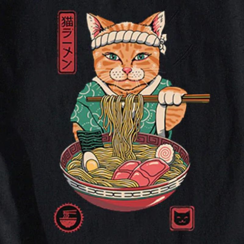 T-Shirt Chat Neko Ramen | vraiment-chat