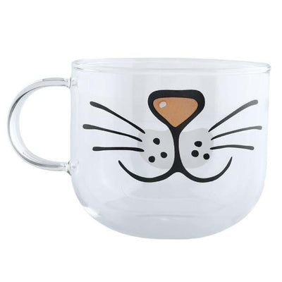 Tasse Transparente à Moustache de Chat | vraiment-chat