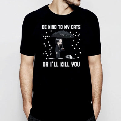 Tee Shirt John Wick Chat - Vraiment-chat