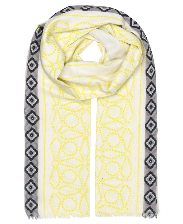 Heba Yellow Scarf