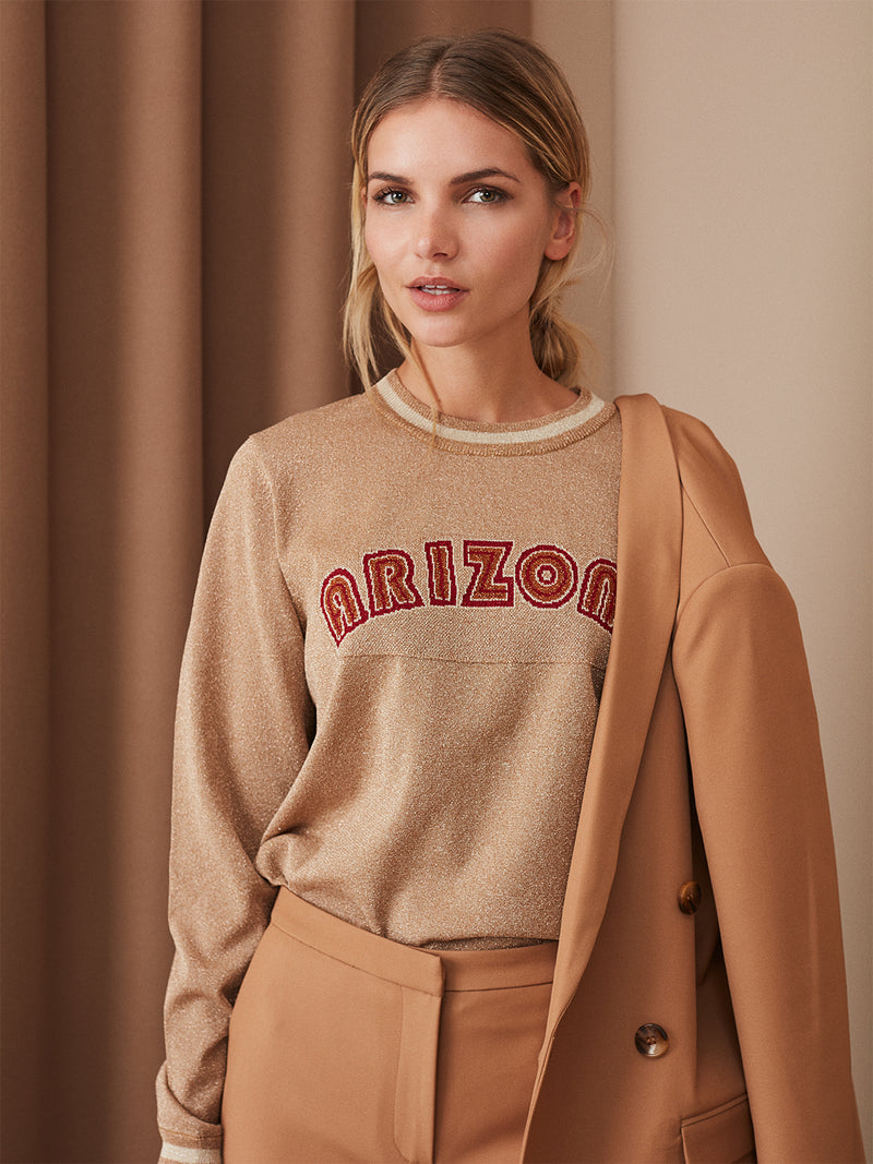 Arizona Gold Glitter Jumper