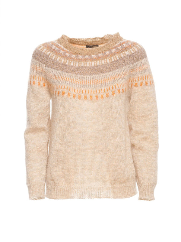 Sweater with geometric motif