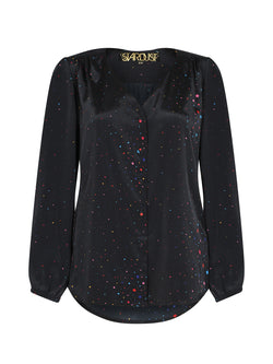 Betty Blouse Black Stars