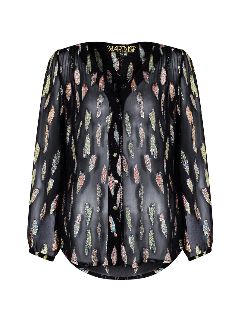 Betty Blouse Metallic Sunset