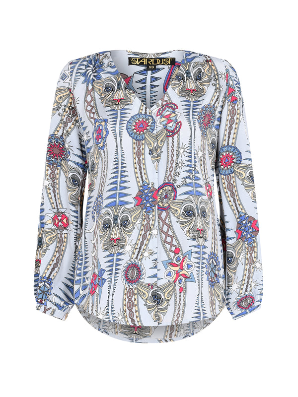 Tribal Betty Blouse Snow Leopard