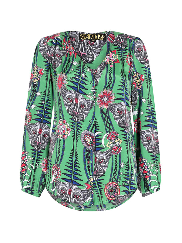 Tribal Betty Blouse Watermelon Tourmaline