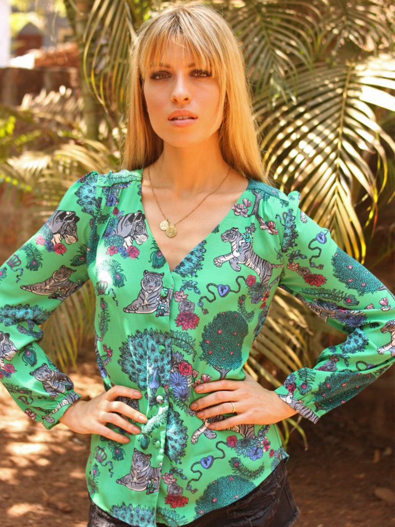 Betty Tiger Blouse