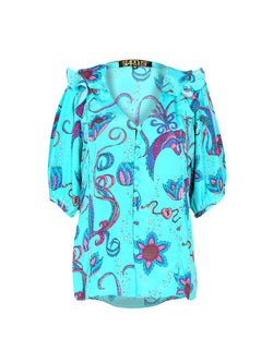 Bloom Bird Blouse Teal