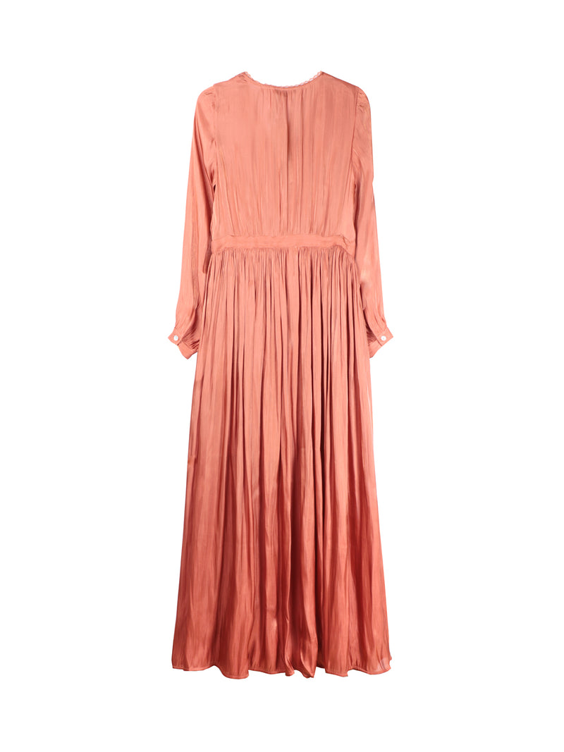 Brique Drape Dress