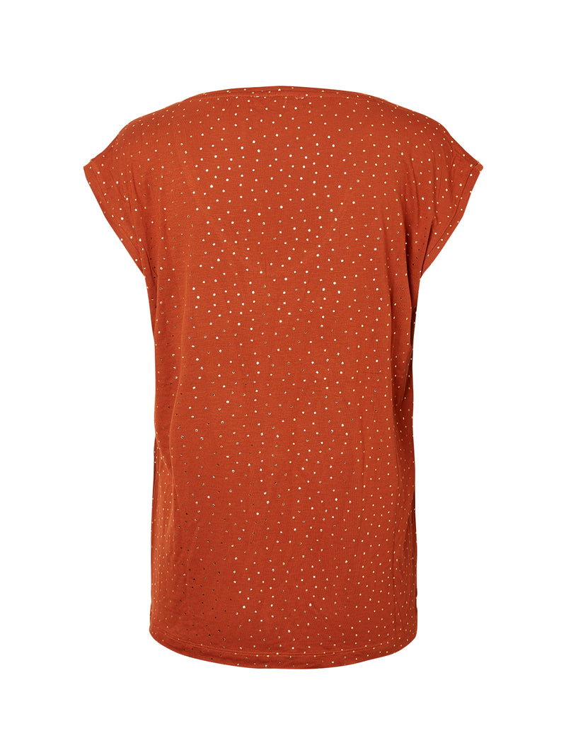 Bronze Spotty T-Shirt