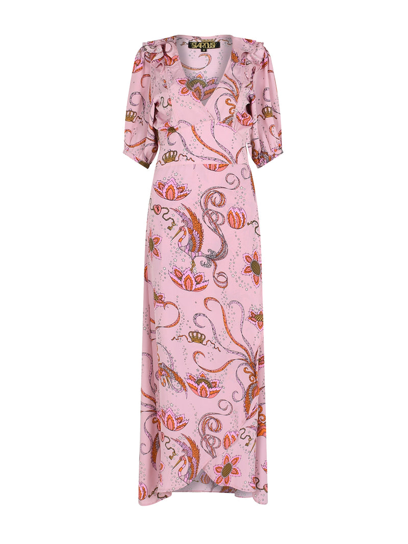 Bloom Bird Maxi Dress Pink