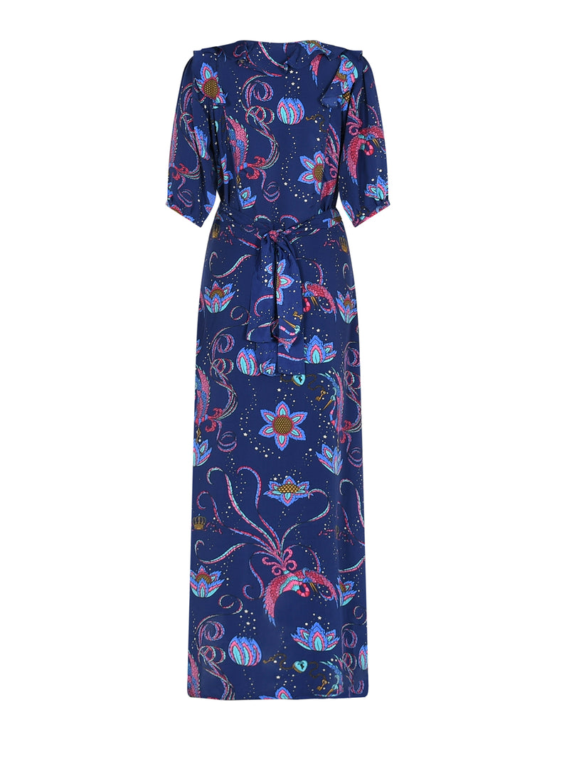 Bloom Bird Maxi Dress Navy