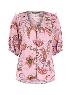 Bloom Bird Blouse Pink