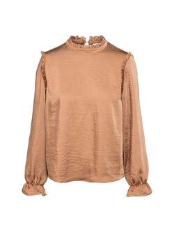 Camel Frilled Blouse