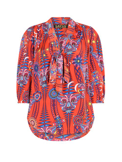 Tribal Candy Blouse Electric Sunset