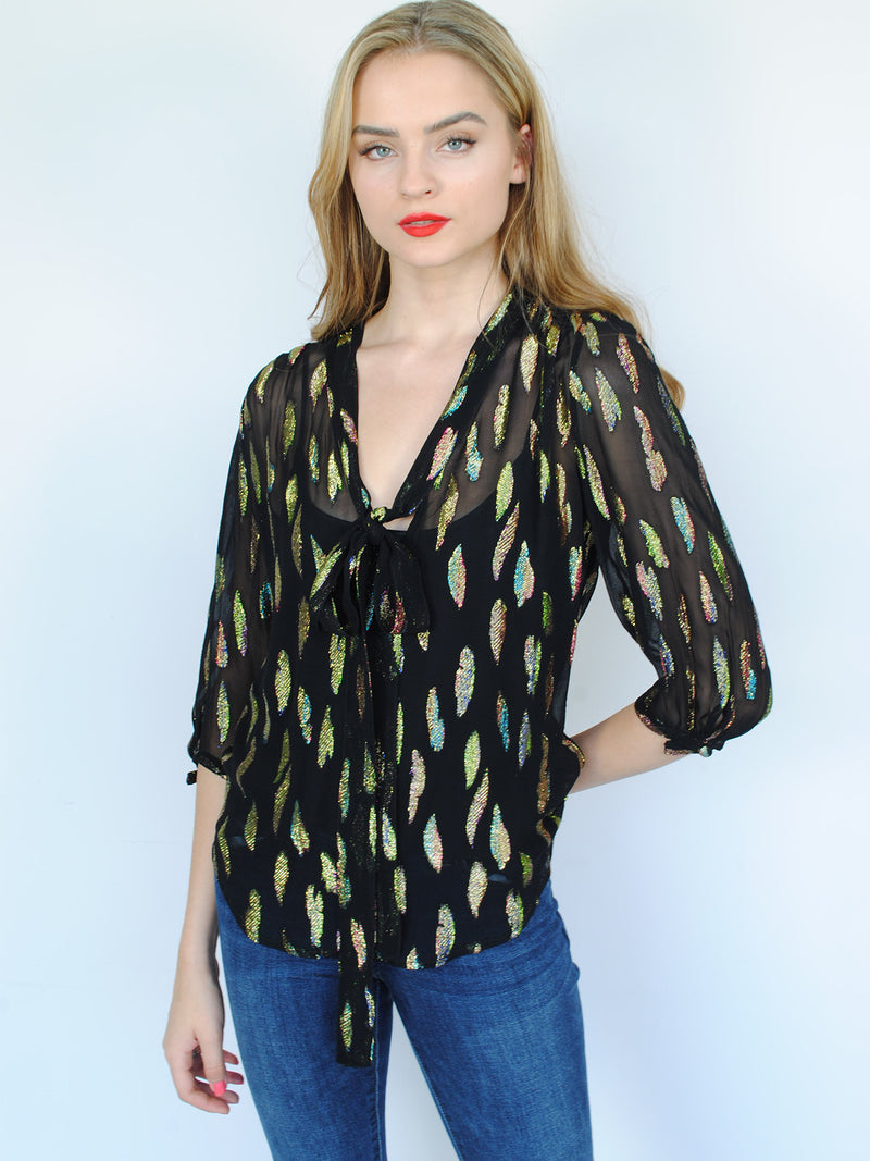 Candy Blouse Metallic Sunset