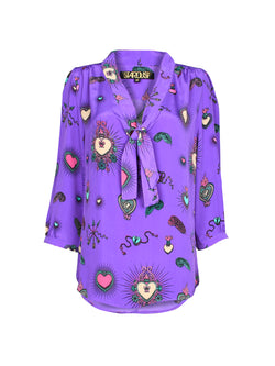 Candy Heart Blouse Purple