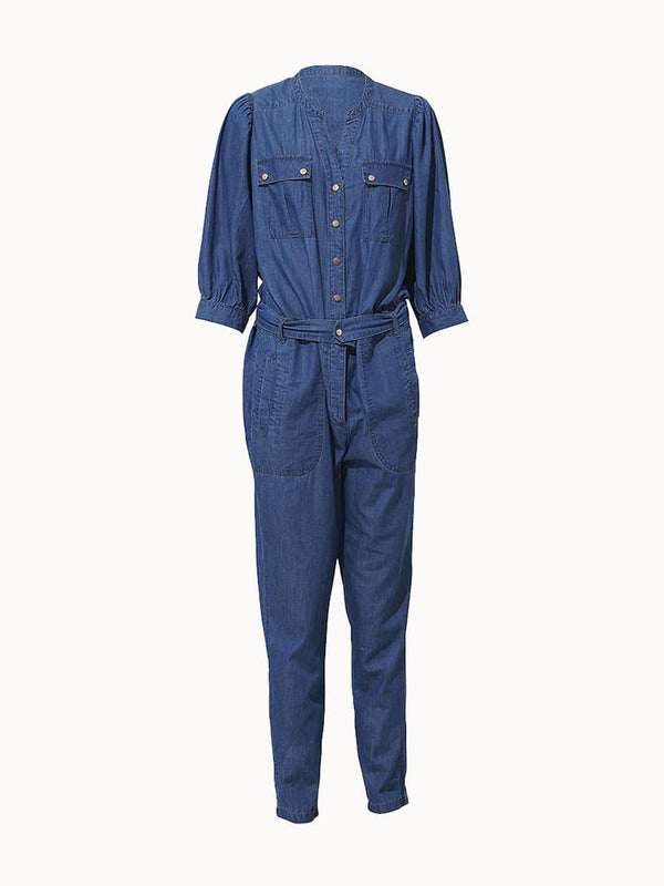 Chantal Chambray Pantsuit