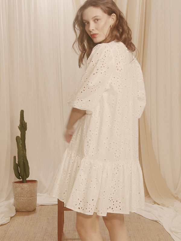 Claudia Dress White