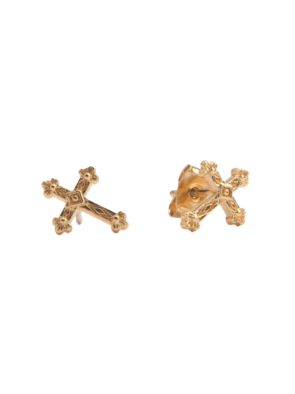 Parade Gold Cross Earrings