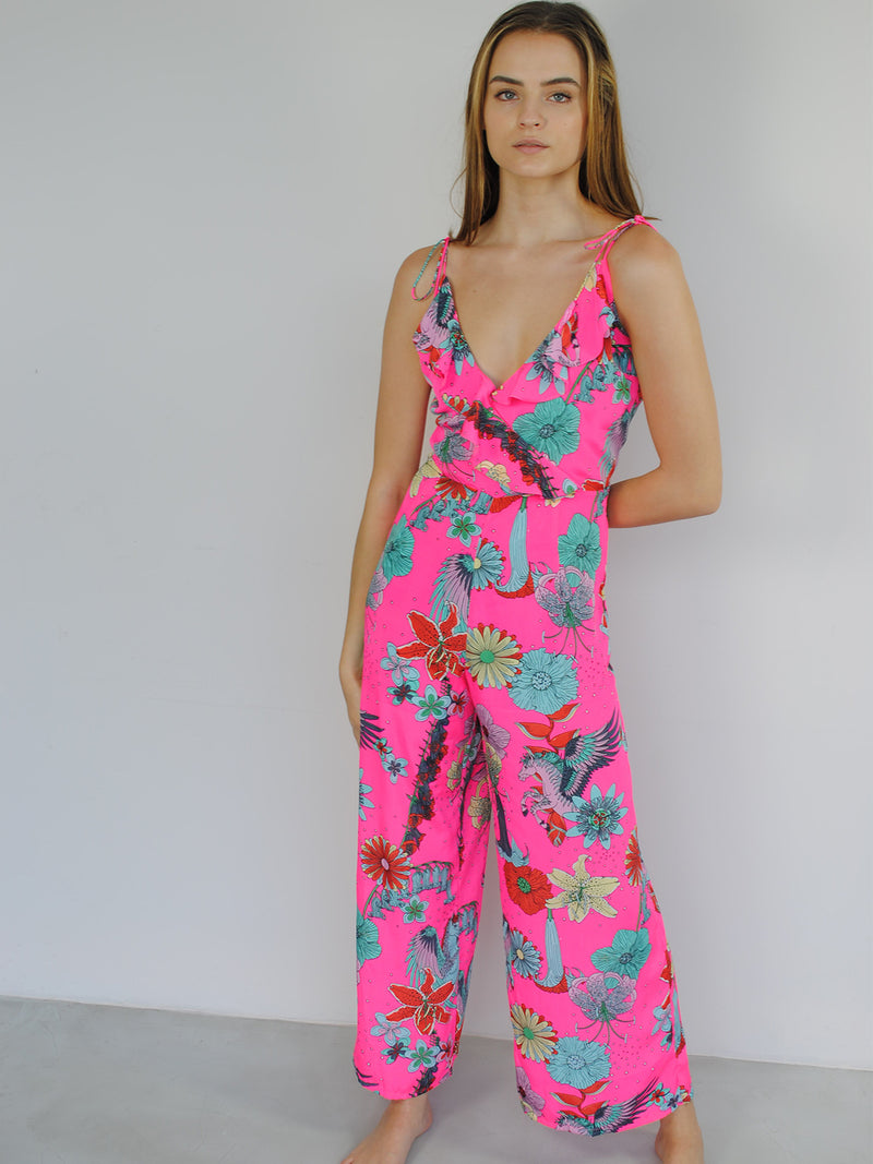 Floral Dancer Jumpsuit Pink