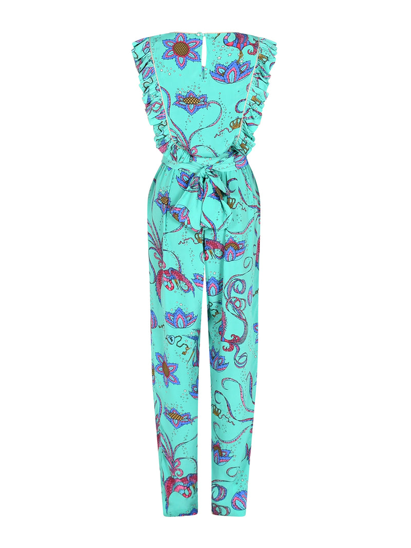 Disco Bird Jumpsuit Emerald