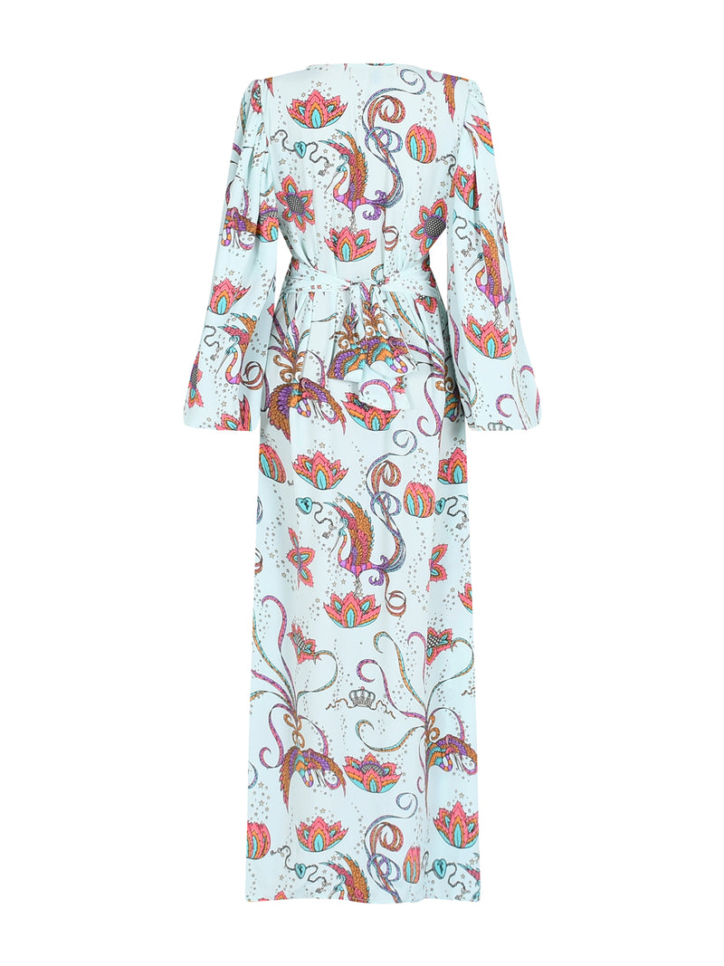 Diva Bird Maxi Dress Mint