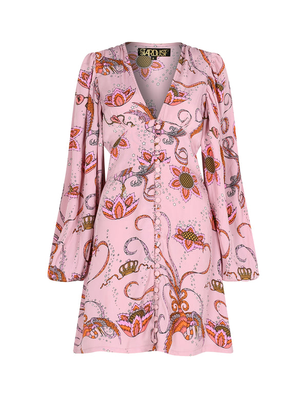 Diva Bird Mini Dress Pink