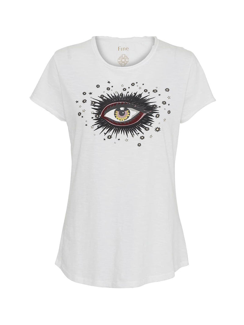 Lyon Eye Tee White