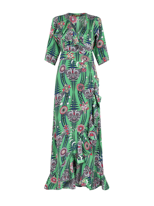 Tribal Flamenco Maxi Dress Watermelon Tourmaline