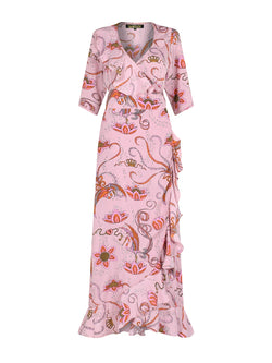 Flamenco Bird Maxi Dress Pink