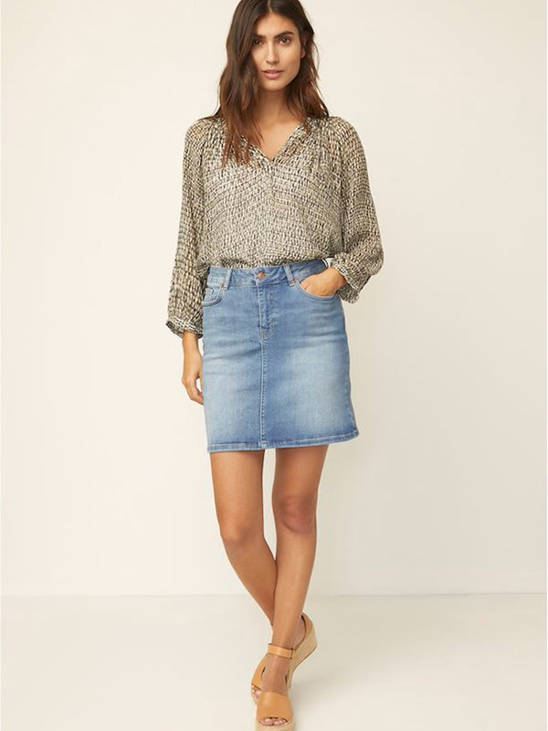 Heylee Denim Skirt