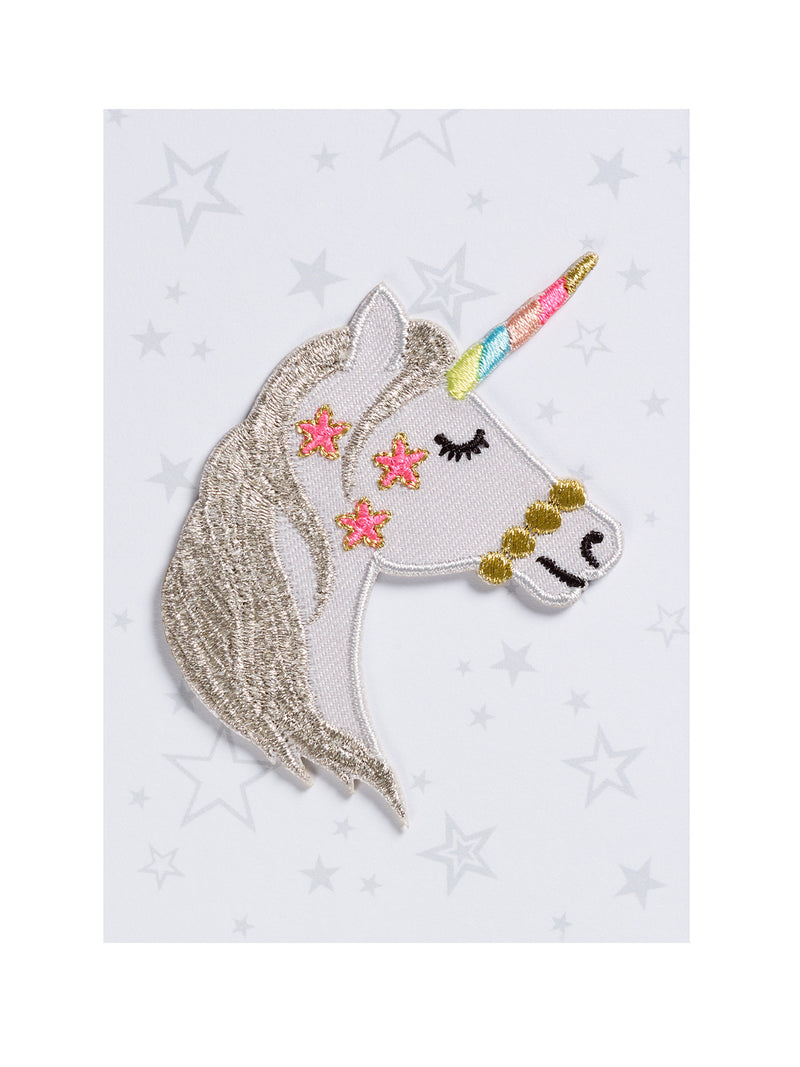 Unicorn Head Iron on Patch