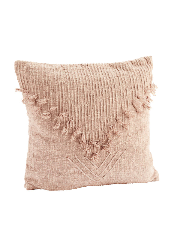 Dusty Rose Fringed Cushion