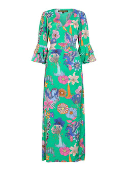 Floral Joni Maxi Dress Green