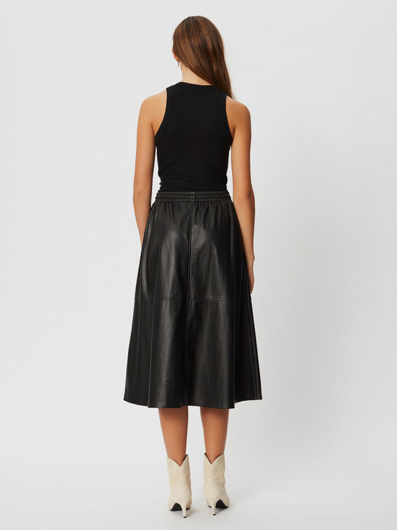 Katelyn Faux Leather Skirt