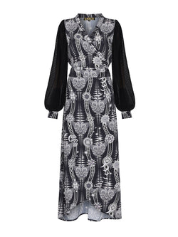 Tribal Keaton Maxi Dress Black Diamond