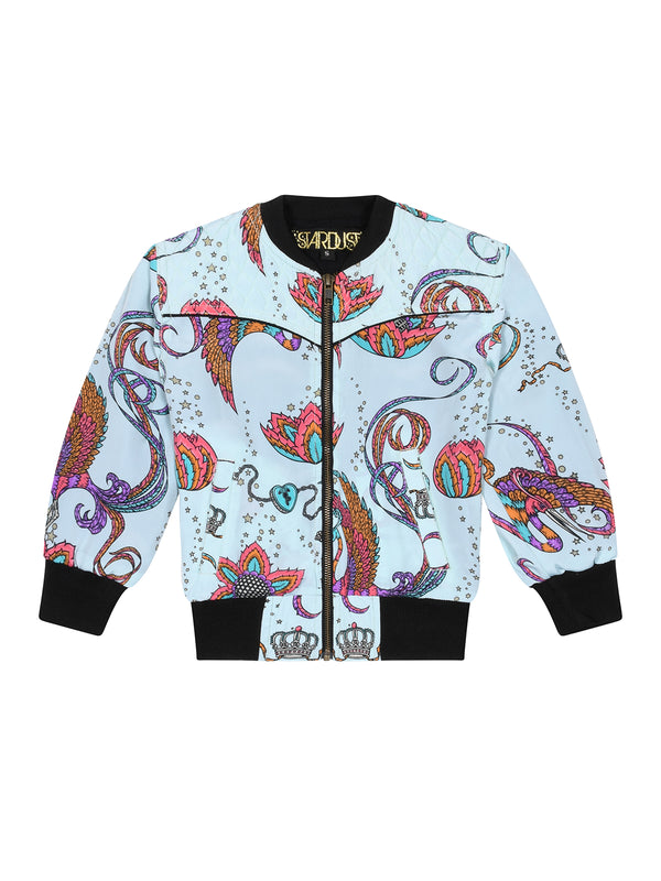 Kids Bird Bomber Jacket Mint