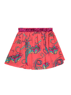 Kids Bird Skirt Coral