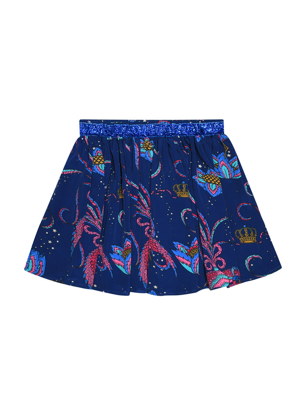 Kids Bird Skirt Navy